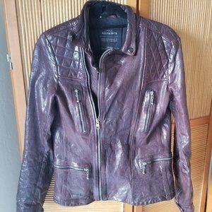 All Saints Leather Biker Jacket